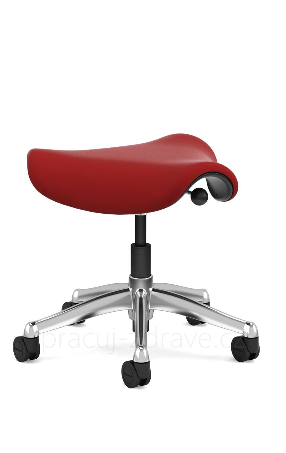 Sedlová židle Humanscale Saddle Seat - lucky red