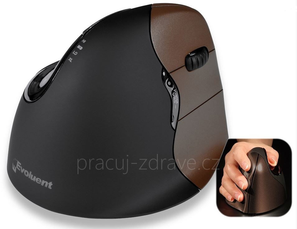 Evoluent VerticalMouse 4 Small Wireless hnědá lux myš